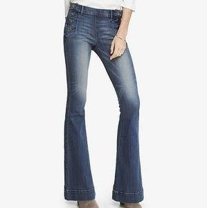 Express jeans with sailor button detail
